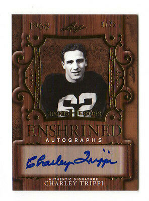 Charley Trippi Nfl 2016 Leaf Sports Heroes Enshrined Autograph(Chicago Cardinals