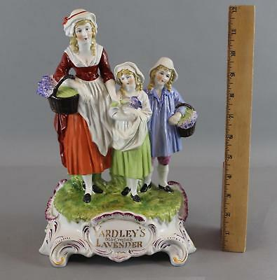Antique Dresden Porcelain, Yardley's Old English Lavender, Advertising Figurine