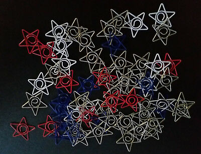 BULK pack of 60 Star shaped Paperclips for Scrapbooking ***FREE POSTAGE***