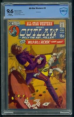 All Star Western #6 (1971) CBCS Graded 9.6 ~ Grey Tone Cover  Gil Kane ~ Not CGC