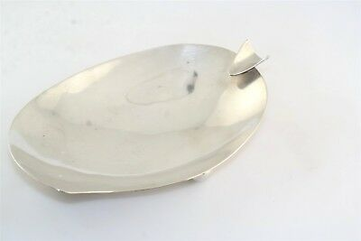 Mid Century P Lopez G Mexican Sterling Silver Modernist Footed Ash Tray