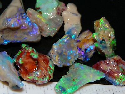 Quality Fossil/Crystal Opal Parcel 74.2cts Lightning Ridge, Multicolour Fires NR