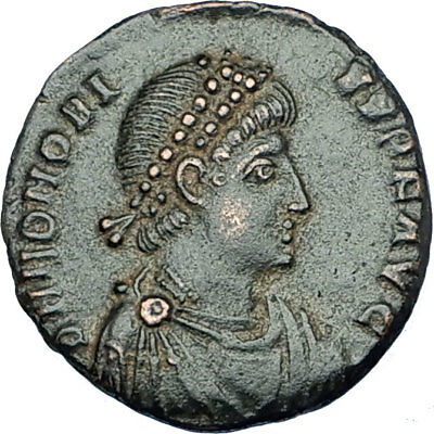 HONORIUS crowned by Victory 395AD Antioch Authentic Ancient Roman Coin i65884