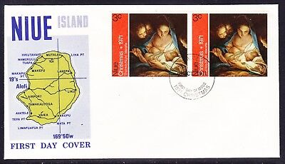 Niue 1971 Christmas First Day Cover Unaddressed