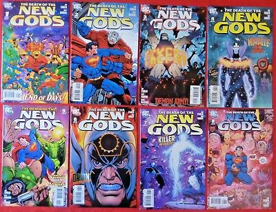 Death Of The New Gods  Complete Set 1-8  Jim Starlin  Dc  2007  Nice!!!