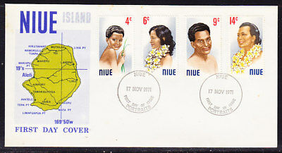Niue 1971 Portraits First Day Cover Unaddressed