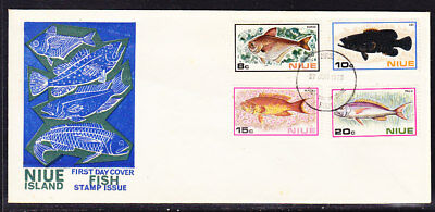 Niue 1973 Fish  First Day Cover Unaddressed