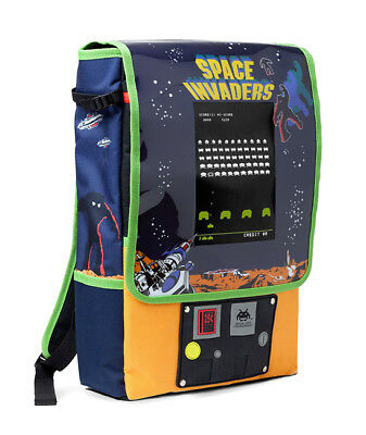 Space Invaders Backpack Retro Video Game Arcade Cabinet Style Collectible NEW