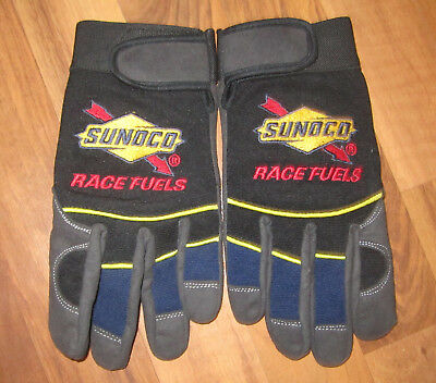 Black Sunoco Race Fuels XL Gloves Advertising Gas and Oil Companies Collectible