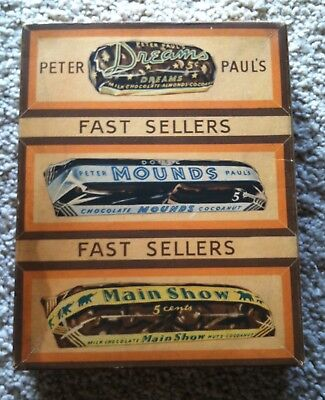 1950's Peter Paul's Dreams Mounds and Main Show Candy Bar Box