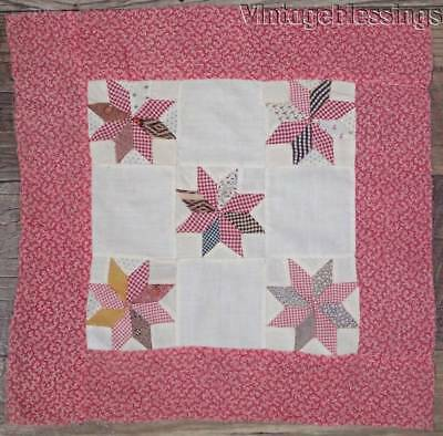 """Wonderful Early Stars Antique QUILT Block 14"""" x 14"""" Make DOLL QUILT"""