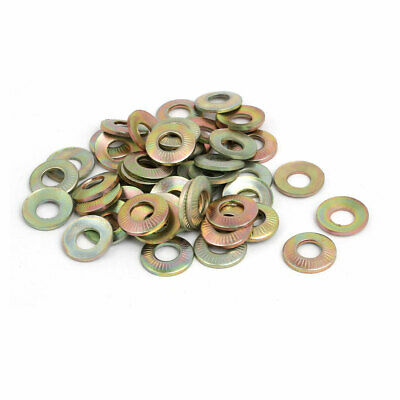 M6 Inner Dia Carbon Steel Serrated Conical Washer Bronze Tone 50pcs