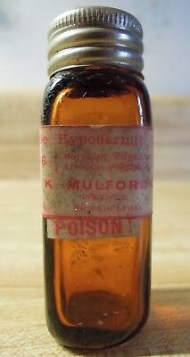 Morphine, Atropine - Soluble Hypodermic Tablets - Poison Bottle - Mulford Co.