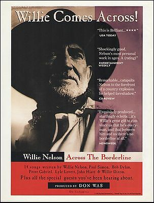 Willie Nelson 1993 Across The Borderline ad 8 x 11 advertisement print
