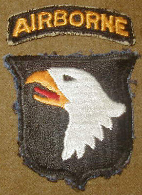 Original Late 1940's 101st Airborne Division patch Used - Paratrooper