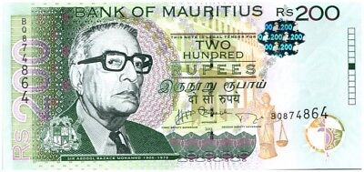 Mauritius 200 Rupees A. R. Mohamed - Market - 2013