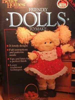 CRAFT BOOK - FRIENDLY DOLLS TO MAKE - 21 ideas all instructions & patterns incl.