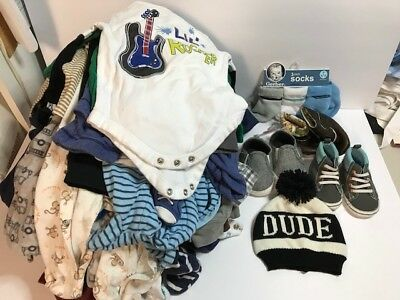 50 Pcs Baby Boy Newborn  3-6 Months Fall Winter Outfit Clothes Lot Euc