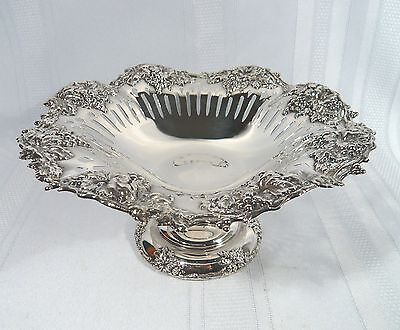"Rare MARCUS & Co. NY  American STERLING SILVER Compote Ornate DISH 9"" Bowl"