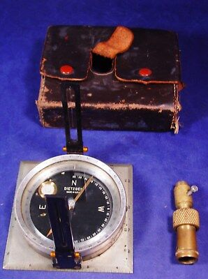 Dietzgen Staff Compass from 1950's + Leather Case