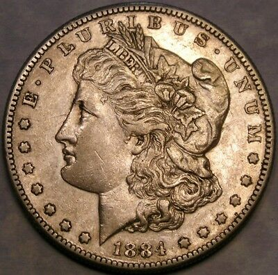 1884 S Morgan Silver Dollar Higher Quality Appealing Scarce Check D Store 4 More