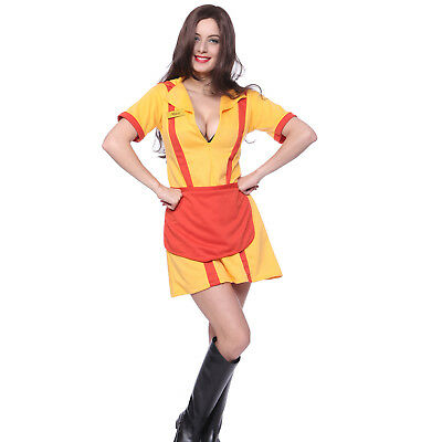 Deguisement Costume Femme Adulte 2 Broke Girls Halloween Carnaval