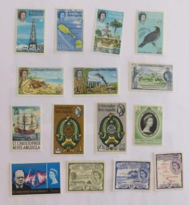 St Kitts Nevis QE small collection unused