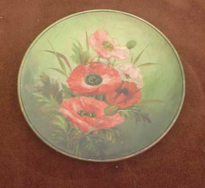 LARGE 10.25ins LATE VICTORIAN WATCOMBE POTTERY POPPY DESIGN CHARGER / PLATTER