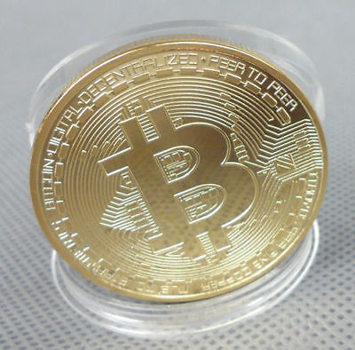 10pcs BTC Coin Art Collection Bitcoin Coin Gold Plated Physical Collectible Gift