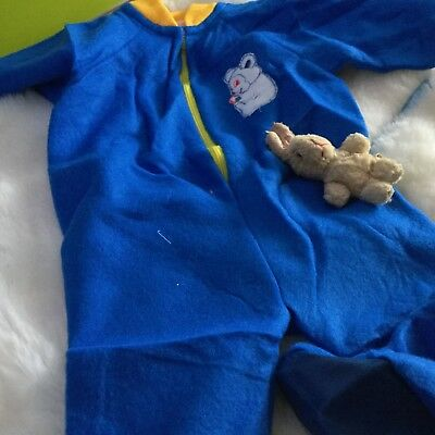 AUTHENTIC VINTAGE 1970s UNUSED BABY  PRAM SUIT SLEEP SUIT 6 MONTHS