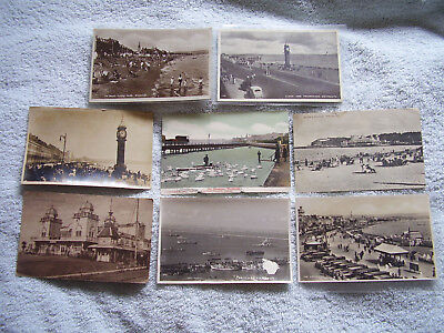 8X VINTAGE 1920-50s B&W/COLORED  POSTCARDS OF WEYMOUTH, POSTED/UNPOSTED,