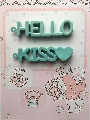 Gomme collection eraser vintage 80s Hello Kiss