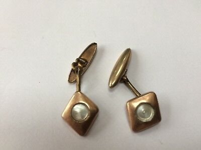 Vintage Arts And Crafts Copper Cufflinks