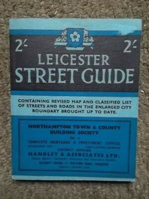LEICESTER Street Guide 1957 - Leicester City Street map 1950's Local History