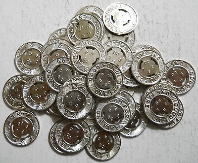 Lot of 40 C.R. & L. Lines (New Britain, Connecticut) transit tokens - CT290N