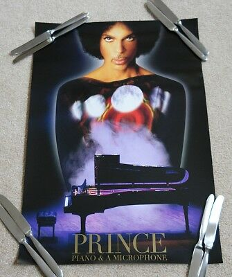 Prince Piano and Microphone PURPLE  2016 tour poster ! (damaged/bent/creased)