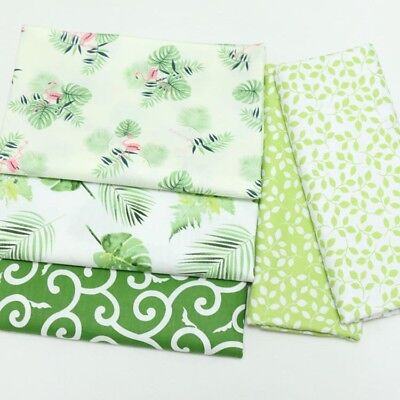 One PCS Cotton Fabric Pre-Cut Cotton Fabric for Sewing Green Leaves R3
