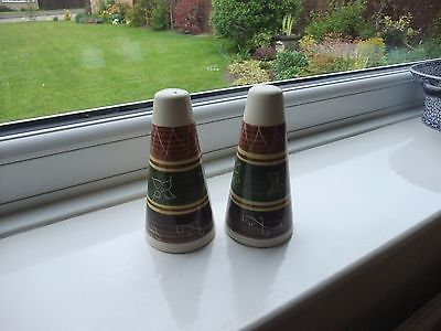 Welsh Dragon Pottery Rhayader Large Salt And Pepper Pots