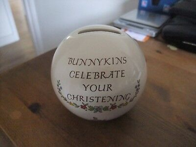Beautiful Bunnykins Christening Money Box By Royal Doulton