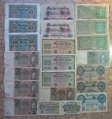 Big Lot Of Old Bank Notes Of Germany (Empire - Weimar Republic - Third Reich)- A