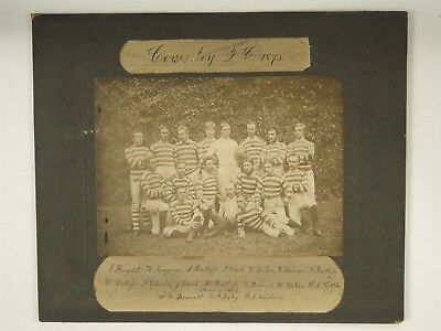 Rare Photo Of Coventry Football Club 1875 - Rugby - All Named