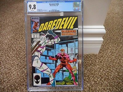 Daredevil 244 cgc 9.8 Marvel 1987 VooDoo WHITE pages MINT movie TV show HOT
