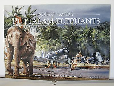 Puttalam Elephants F4U Corsairs Royal Navy Robert Taylor Aviation Art Brochure