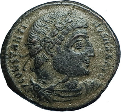 CONSTANTINE I the GREAT 330AD Authentic Ancient Roman Coin w SOLDIERS i66012