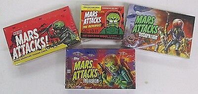 Mars Attacks Lot 4 Sealed Boxes Topps-  Heritage,invasion,occupation,the Revenge