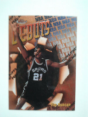 1997/98 Topps Finest No. 101 - Tim Duncan  RC Rookie Spurs