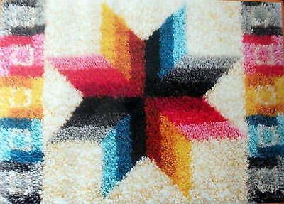 "Mcg Textiles Latch Hook Rug  Kit       ""quilted Star"""