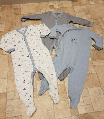 Boys Next Dino Current Sleepsuits 3pack 12-18 Months