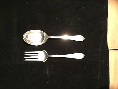 Dominick and Haff Pointed Antique Salad Set.  Reed And Barton