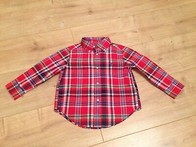 Gorgeous Boys Ralph Lauren Check Shirt Age 2 T 18 24 Months